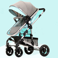 Luxury High Landscape Newborn Baby Carriage Brand Baby Stroller Sleeping Basket Baby Buggies Large Wheels Umbrella Car Lie Flat
