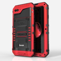LUPHIE Mobile Phone Protective Case Aluminum Hard Cover Full Protected Waterproof Scrape Resistance Shockproof For IPhone