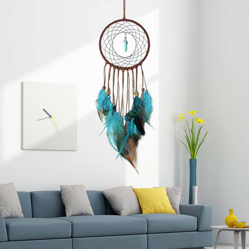 1Pc Retro Life Tree Colorful Feather Dream Catcher Wind Chimes Hanging Dreamcatcher Christmas Party Home Decoration