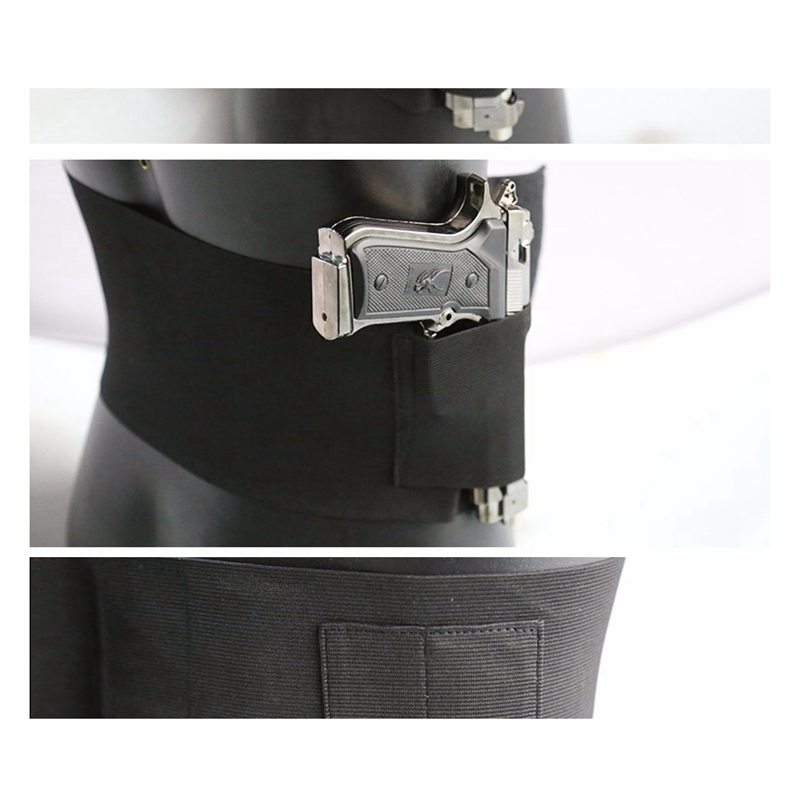 Wolfslaves Unisex Tactical Verstelbare Belly Band Taille Pistool Holster Met Double Magazine Pouches Groothandel