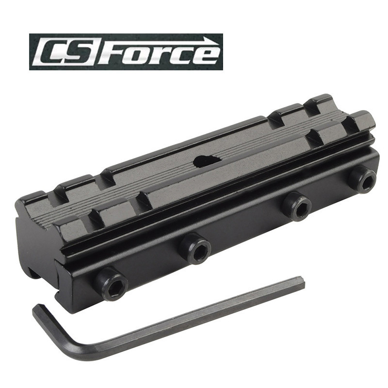 CS Force 11mm/20mm Dovetail Weaver Picatinny Rail Mount Adapter Converter Scope Base For Hunting Military Rifle Scope Mounts