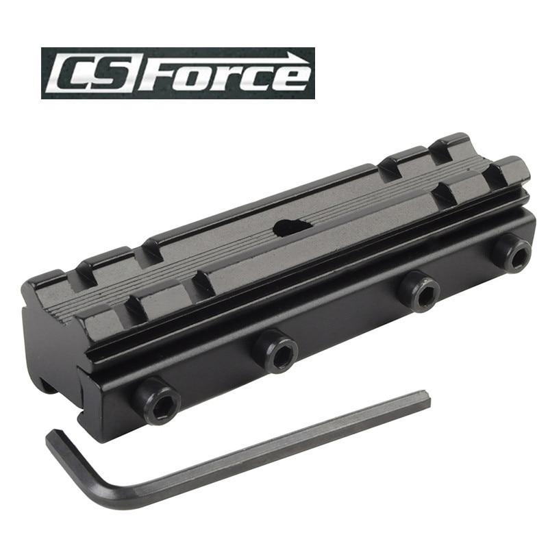 все цены на CS Force 11mm/20mm Dovetail Weaver Picatinny Rail Mount Adapter Converter Scope Base For Hunting Military Rifle Scope Mounts