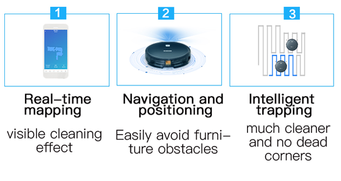 NEATSVOR X500 1800PA Robot Vacuum Cleaner for Wet or Dry Mopping with Map Navigation and Anti Collision Feature 15