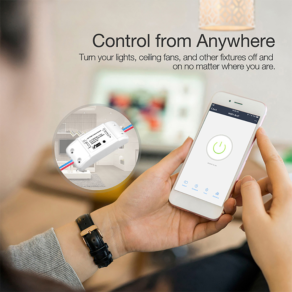 DIY WiFi Smart Light Switch Home Automation Relay Module Controller  Universal Breaker Timer Wireless