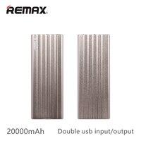 Remax 20000 mAh doble usb Banco de Potencia LED Indicador Cargador de Batería de Reserva Externa Portable Para iPhone5 6 7 Plus de Samsung Huawei