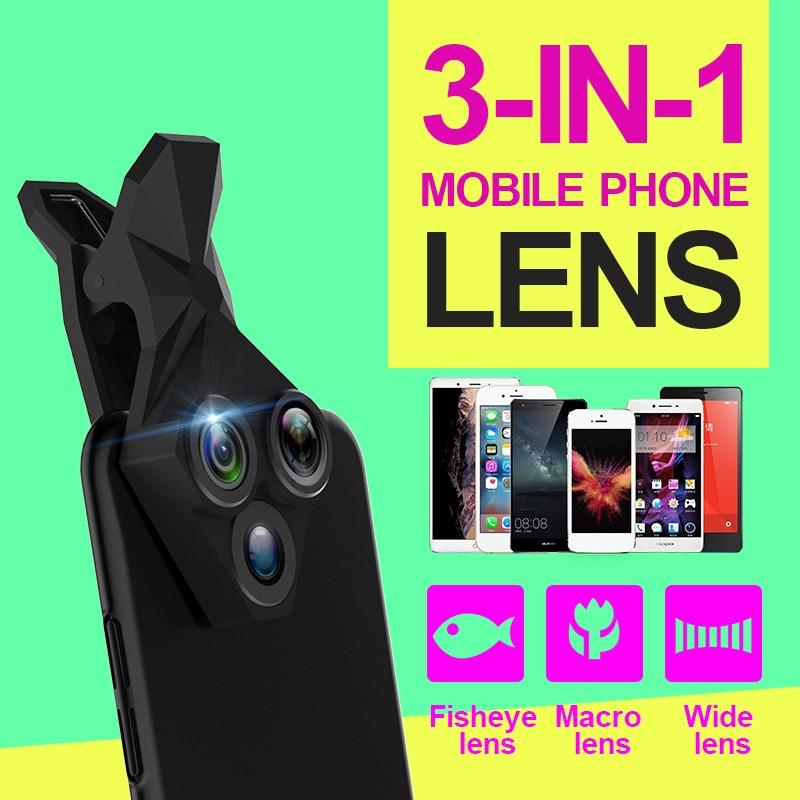 APEXEL kedatangan Lensa Kamera Kit 3 in 1 Fisheye Lens Wide Angle - Aksesori dan suku cadang ponsel - Foto 4