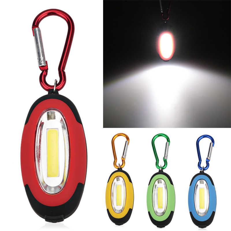 Mini portátil 3 modos de bolsillo COB luz luz LED linterna antorcha Llav/_ks