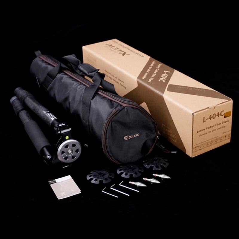 XILETU Professionnel Stable Photographie Observation Des Oiseaux trépied en fibre de Carbone Pour appareil photo numérique Vidéo Caméscope Avec Épaulettes - 6