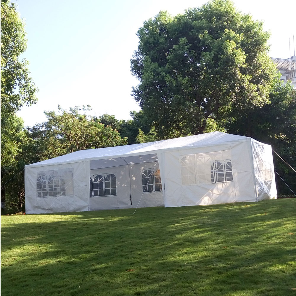 3x9 m Portable usage domestique tente de fête étanche blanc haute qualité tente de mariage grand Camping en plein air surdimensionné tente de stationnement