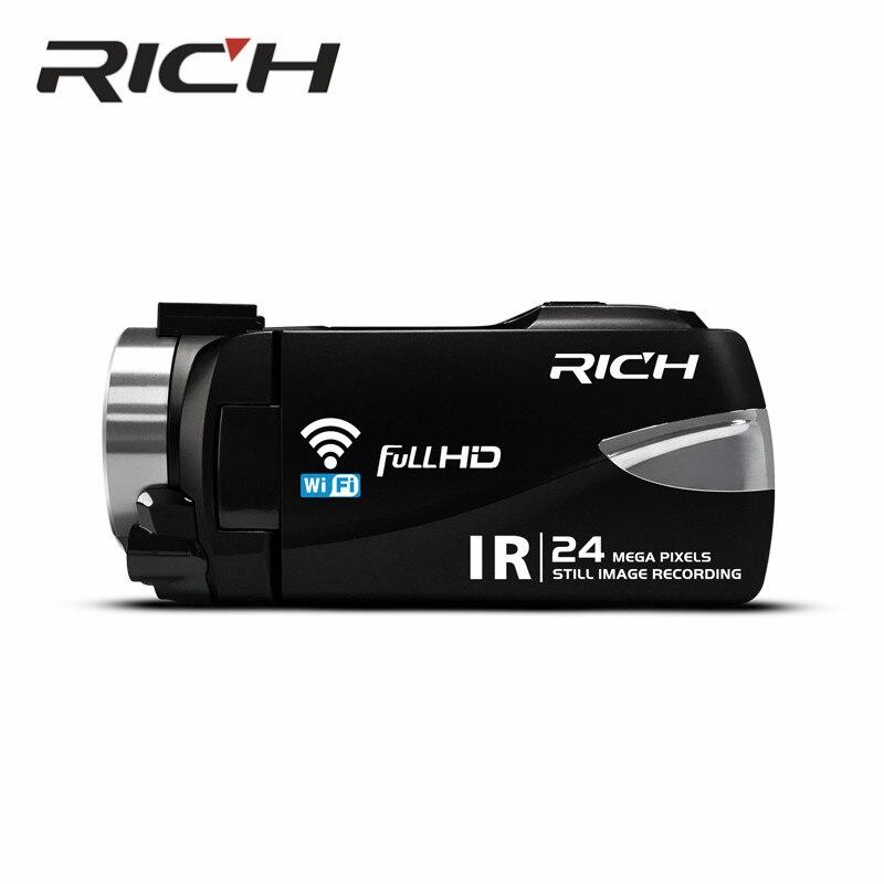 10 pcs/lot riche caméra HD 800 millions CMOS 3.0 pouces avec WIFI HD NTSC/PAL sortie USB2.0 télécommande infrarouge, vision nocturne