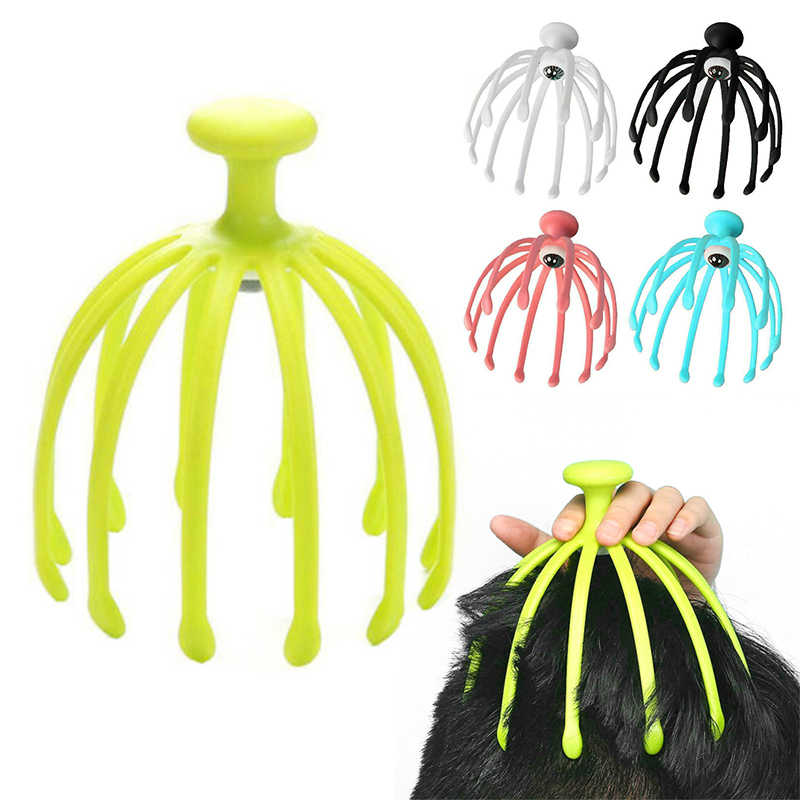 Claw Massager Body Massager Octopus Head Scalp Neck Equipment Stress Release Relax Massage Tens Pain Relief Head Care Plastic