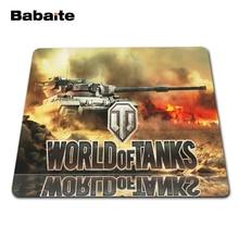 Babaite горячий игровой резиновый коврик для мыши Notbook компьютерный оптический прошитый край коврик для мыши геймер Мир танков скорость мыши игровой коврик