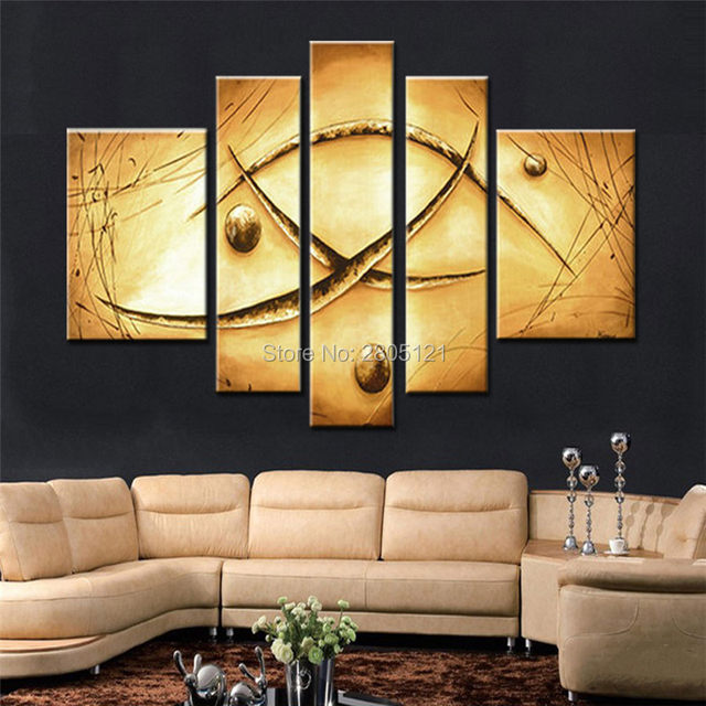 Online Shop Hand-painted Abstract earthtone oil painting vintage ...