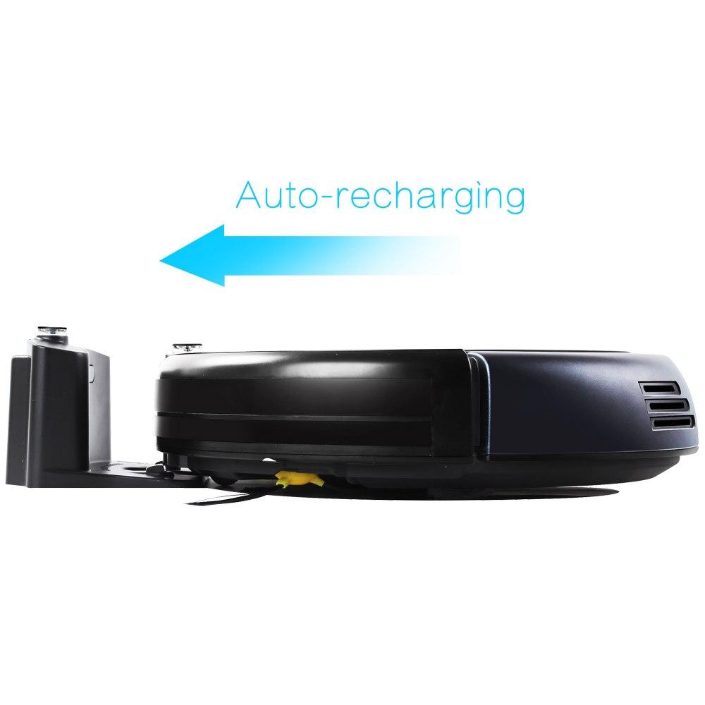 LIECTROUX Roboter Staubsauger B3000 LED Touchscreen Selbst Aufladen Saug Outlet Fernbedienung Anti-herbst Sensor