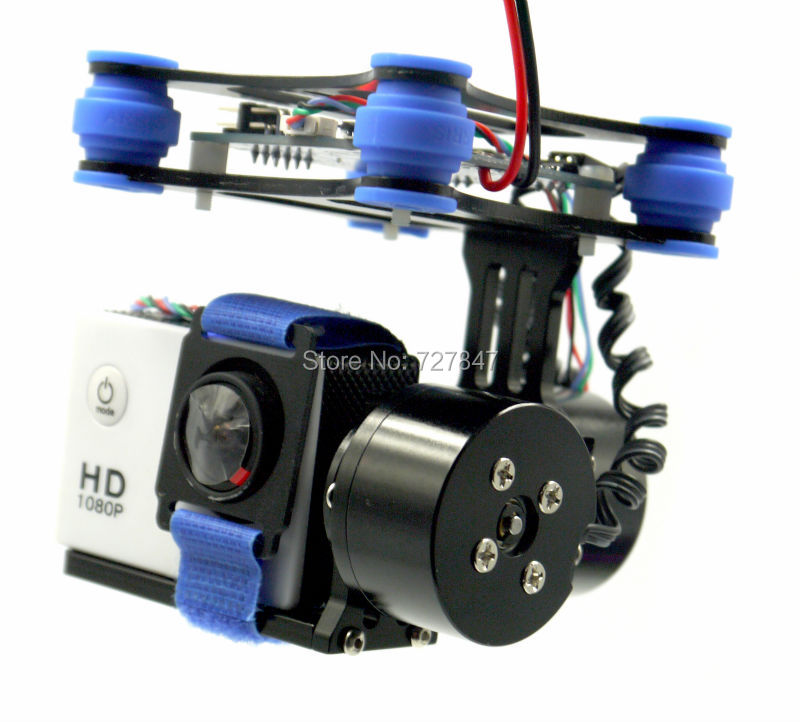 RTF CNC <font><b>Brushless</b></font> Gimbal/ 2805 <font><b>80KV</b></font> <font><b>Motor</b></font>/ BGC Controller Board Black for WK QR X350 SJ4000 Camera image