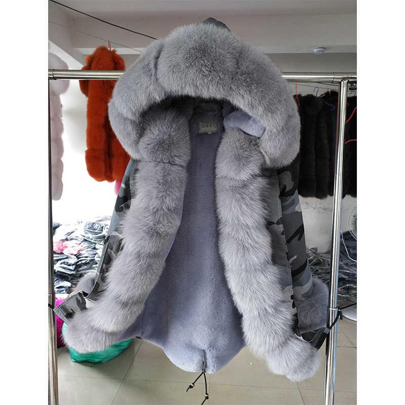 2019nuevo abrigo de piel de conejo de moda para mujer abrigo de piel de otoño invierno chaquetas de piel de zorro y abrigos de alta calidad abrigo Casual