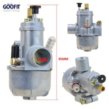 GOOFIT 15mm Carburetor Puch Moped Bing Style Carb Stock  Maxi Sport Luxe Newport Cobra Carburettor N090-112