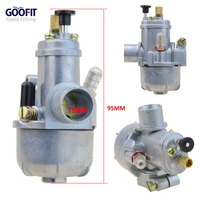 GOOFIT 15mm Carburetor Puch Moped Bing Style Carb Stock Maxi Sport Luxe Newport Cobra Carburettor N090