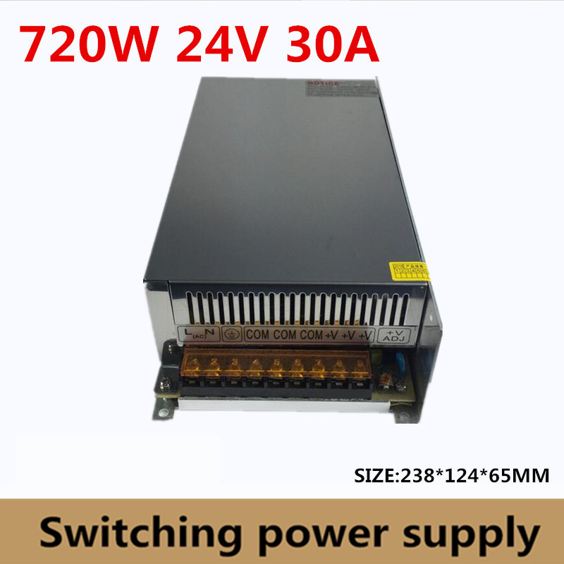 720W 24V 30A Switching Power Supply DC 24V Voltage Transformer for Led Strip LED light display billboard industrial equipment
