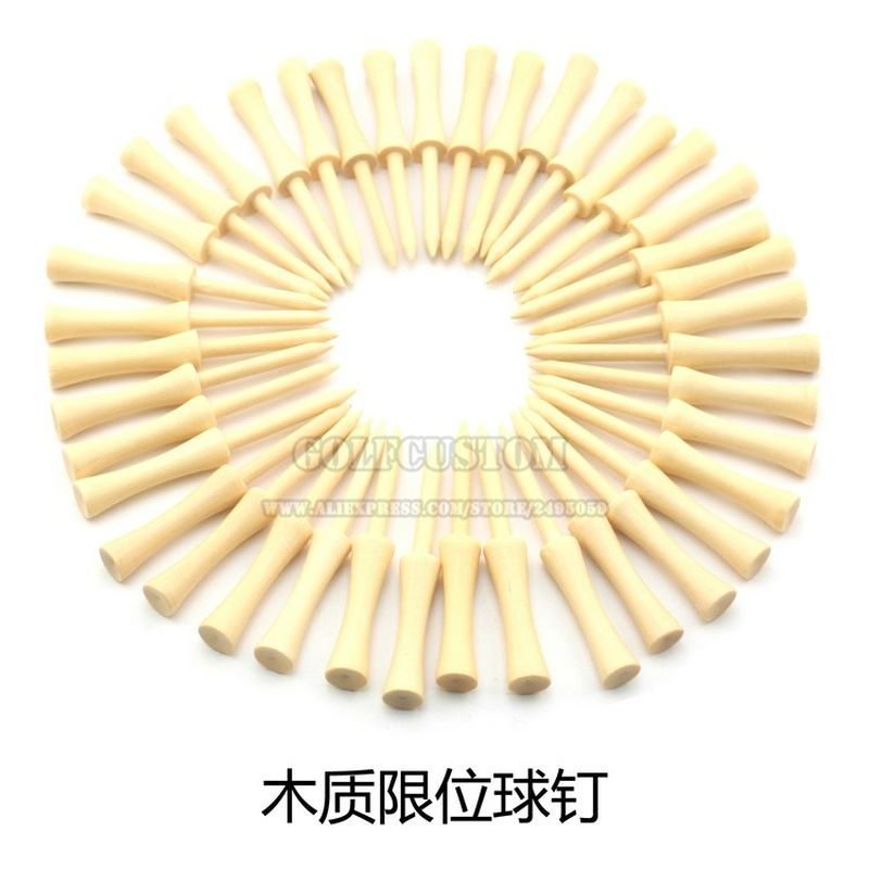 Free shipping 400Pcs 54mm 70mm 83mm Mixed Color Wood Double-deck Golf Tees Golf Ball Tees