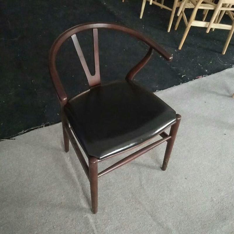 Скандинавский современный из натурального дерева простой обеденной стул из ясеня для отдыха дома спинка деревянного кресла Кеннеди китайский стиль Y стул - Цвет: style 8