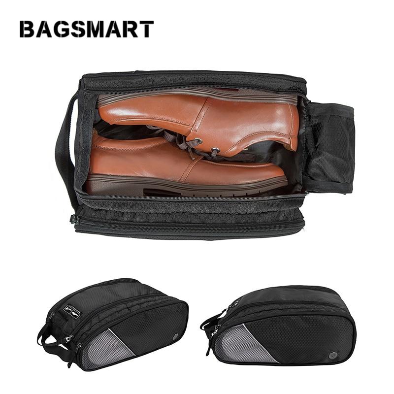 BAGSMART ที่มีน้ำหนักเบากันน้ำระบายอากาศกระเป๋ารองเท้าสำหรับการเดินทาง U Nisex รองเท้ากระเป๋าแฟชั่นกระเป๋ากระเป๋าเดินทาง