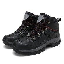 Новинка; зимняя обувь для пешего туризма; кожаные уличные ботинки; треккинговые мужские кроссовки на шнуровке для альпинизма; мужские кроссовки для прогулок