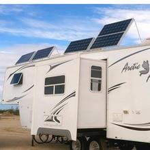 TUV Waterproof Paneau Solaire  12v 100w 5 PCs Panneaux 500 Watt Solar Charger Camping Car Caravan Motorhome System
