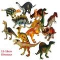 Free Ship 12pcs/lot 15-18cm Dinosaur Plastic Jurassic Play Model Action & Figures T-REX DINOSAUR Toys for Children With no Box