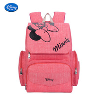Mickey Minnie Plush Backpacks fashion Large space Mommy Diaper Shoulder Bag can Stroller for baby gift