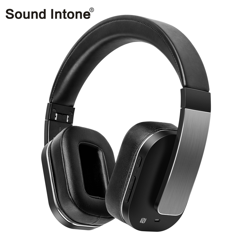 Sound Intone F9 Noise Reduction Wireless Bluetooth Headphones Mic NFC Bluetooth 4.1 sports headphones for a mobile phone le zhong da cx 2 bluetooth sports headphones