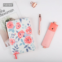 Never Floral Hobo Style Schedule Book Personal Diary Notebook Stationery Set Gift Kit A5 Leather Planner Agenda Office Supplies