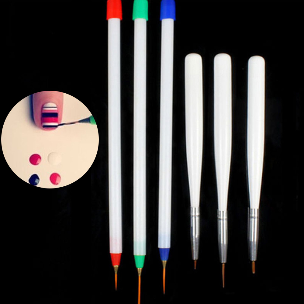 6 Ps/Set 2017 New Design Nail Art Pens Brushes Set Acrylic French 3 ...