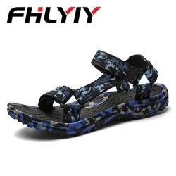 Homens Sandálias de verão Homem Sapatos Camuflagem Homens Chinelo Sandálias Confortáveis Moda Sandalia Masculina Casual Flip Flops Sandália Flat