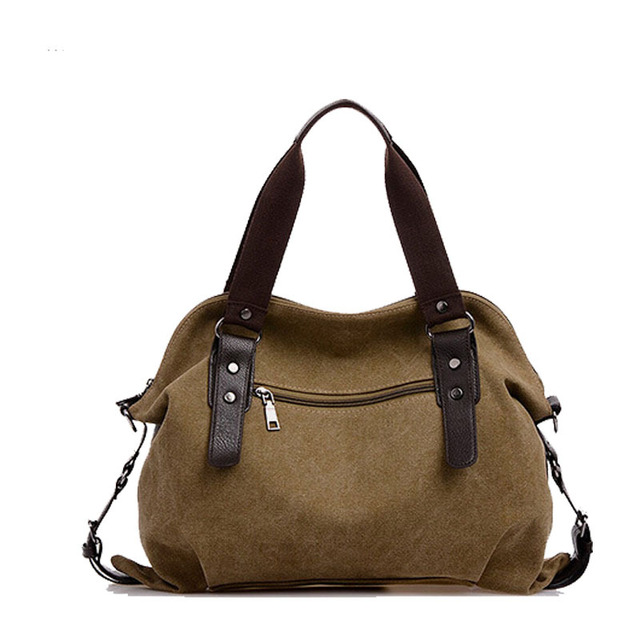Women's Bag Canvas Handbag Female Designer Shoulder Bag Ladies Large Tote 2
