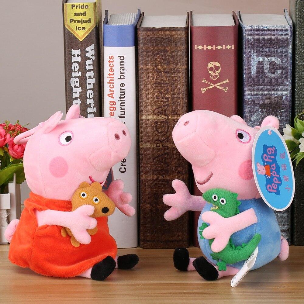 Оригинальная брендовая одежда со Свинкой Пеппой; Мягкие плюшевые игрушки 19/30 см Пеппа свинка Джордж» Семья вечерние куклы для девочек подарки плюшевые игрушки