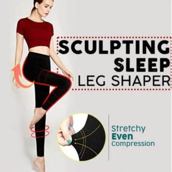 Women Sculpting Sleep Leg Shaper Legging Body Shaper Slimming Pants XRQ88