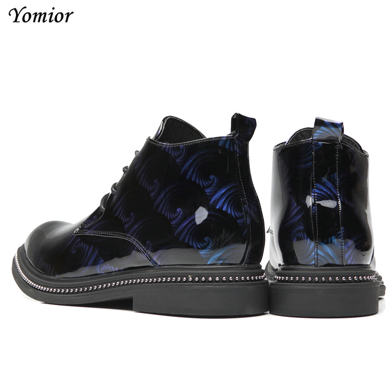 Yomior Autumn Winter Men Leather Boots British Fashion Pointed Toe Casual Shoes Platform High Quality Comfortable Ankle Boots - 6