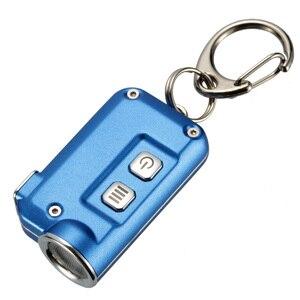 Image 2 - 2018 Nieuwe Nitecore Tini 380 Lumen Micro Usb Opladen Mini Metallic Sleutelhanger Licht Zaklamp