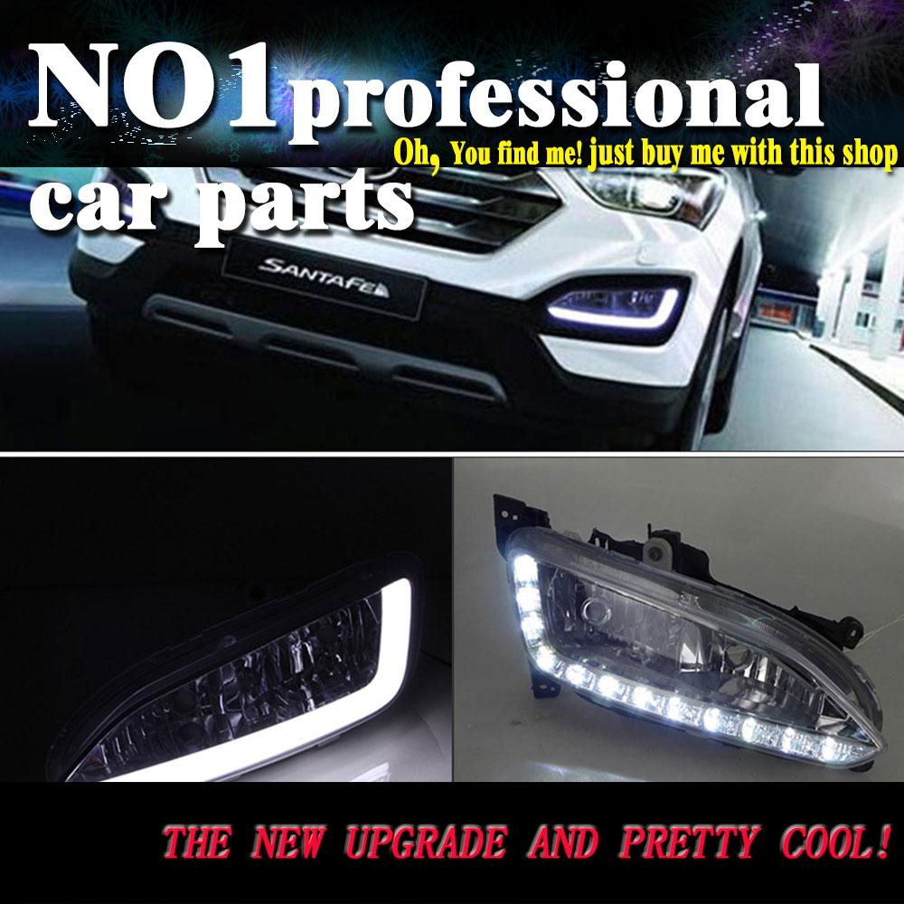 car styling For Hyundai IX45 LED 2013 2014 2015 2016 DRL led fog lamps daytime running light High brightness guide LED DRL for lexus rx gyl1 ggl15 agl10 450h awd 350 awd 2008 2013 car styling led light emitting diodes drl fog lamps
