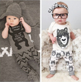 SY106 2017 Summer children's clothing style baby clothing set boy little monsters short sleeve 2 piece. Boys Clothes retail