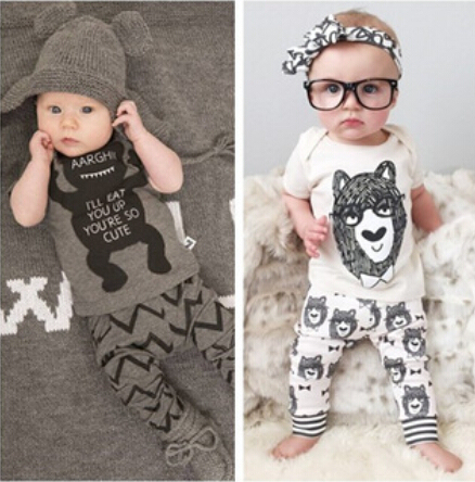 SY106 2018 Summer children's clothing style baby clothing set boy little monsters short sleeve 2 piece. Boys Clothes retail