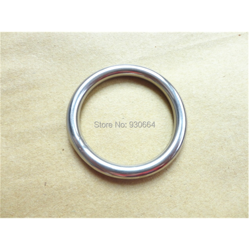 10PCS Stainless Steel  Rings Hardware  Round Buckles  Round Ring Webbing Buckles Welded Inside Diameter 45mm Bags Hardware