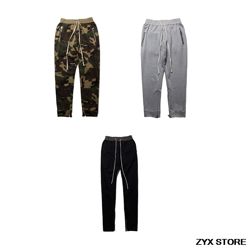 Best Quality Fear Of God FOG Joggers Mens Urban Clothing Kanye West Justin Bieber Zipper Pants Mens Fear Of God SweatPants fitness and skill of rural and urban soccer players of west bengal