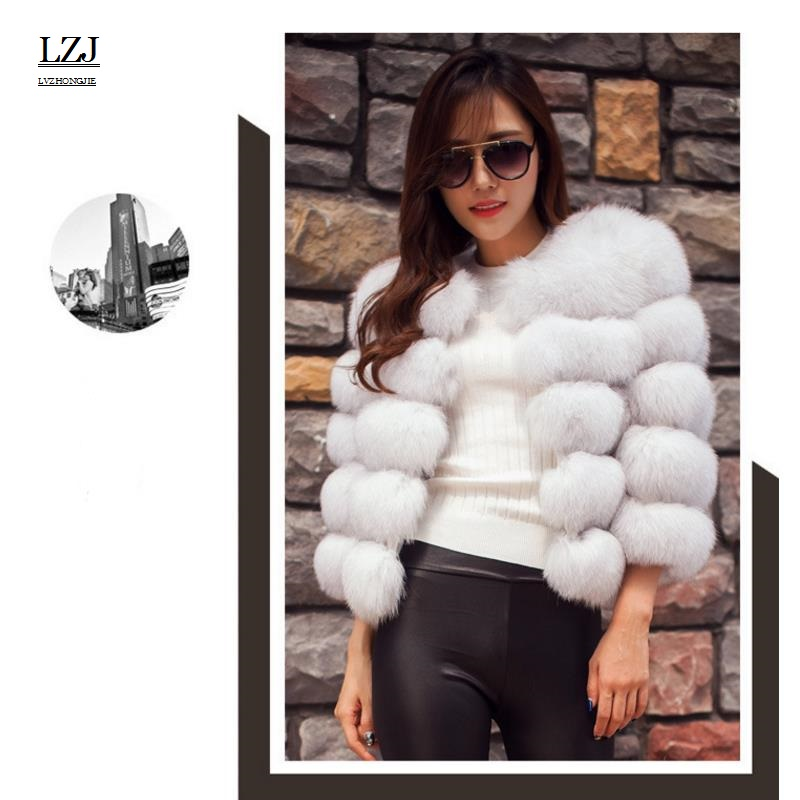 LZJ 2017 new autumn and winter winter coat fur coat fox fur imitation fur coat shearing womens jacket elegant fashion luxury