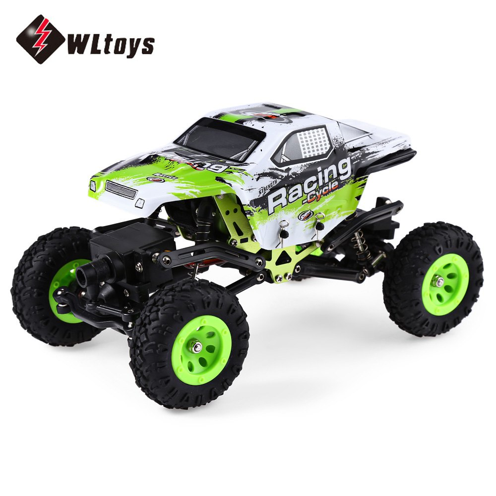 WLTOYS 24438 1:24 2.4G 4WD Off-Road Remote Control Car Toys Rock Crawler RC Racing Car Electric Toy for Kids hsp rc car 1 8 nitro power remote control car 94862 4wd off road rally short course truck rtr similar redcat himoto racing