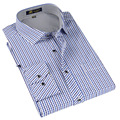 Summer 2017 Men's Multi Small Checkered Plaid Shirts Lightweight Classic Turn-down Collar Long-Sleeve Regular Fit Dress Shirt