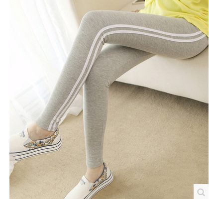 Spring Women Leggings Slim Skinny Pants 2017 Side Striped Cotton thicken Elastic Waist All-match Fitness Trousers Pantalon Femme