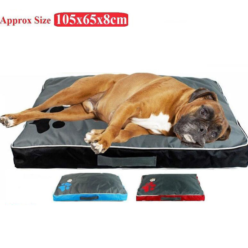 Washable Big Dog Bed Pet Soft Large Dog Cushion Kennel Paw Design Pet Cozy Sofa Puppy Mat Cat Bed Labrador Sofa Pet Bedding