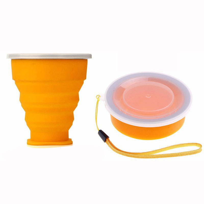 Outdoor Travel Silicone Retractable Folding Cup Outdoor Telescopic Collapsible Cups  Coffee Cups Retractable  camping wine glass-55